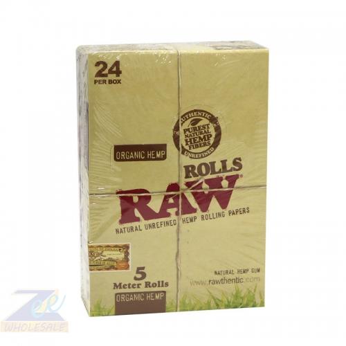 RAW ORGANIC 5 METER ROLLS 24 PER BOX
