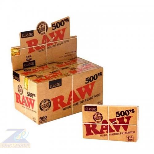 RAW 20 CT CLASSIC UNREFINED 1 1/4 (500)
